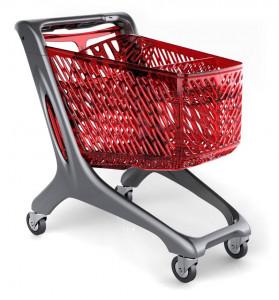 Wózek plastikowy sklepowy 160 L Rabtrolley