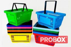 Koszyk sklepowy SAM plastikowy 20L - 2 rączki
