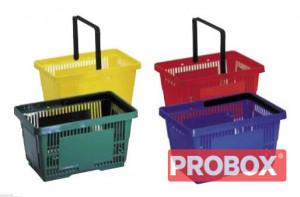 Koszyk sklepowy SAM plastikowy 28L - 2 rączki