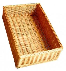 Pojemnik, skrzynka, kosz z wikliny 40x60x16(H) cm