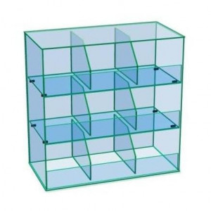 Gablota szklana na cukierki 3 poziomowa AL 16M