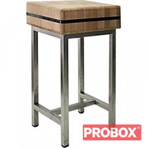 Kloc masarski drewniany na podstawie stalowej 40x50x20 cm (h)