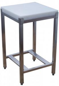 Kloc masarki na podstawie stalowej z wkładem polietylenowym 40x40x5 cm (h)