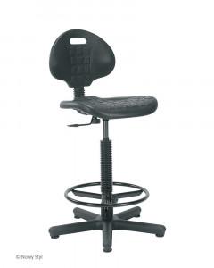 Taboret obrotowy - krzesło laboratoryjne Nargo + ring base