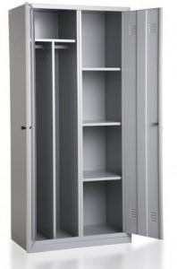 Szafa ubraniowa-półkowa BHP, dwudrzwiowa BHP800/2UP
