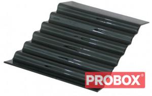 Schody szklane czarne 7-stopni 650x400mm Ikmet