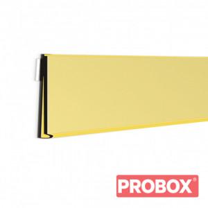 Listwa cenowa do regałów sklepowych samoprzylepna 100 cm żółta DBR 39