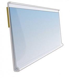 Listwa cenowa przeźroczysta samoprzylepna 100 cm przezroczysta DBR 39