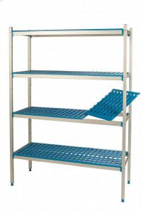 Regał aluminiowo-polipropynelowy, 4 półkowy, 1470x500x1750 mm | ALUSHELF