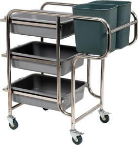 Wózek kelnerski 3-półkowy z 5 pojemnikami Yato Gastro