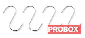 Haki rzeźnicze - zestaw 4 szt. 150x6 (na pręty ma.fi. 45 mm)