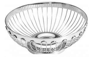 Koszyk do pieczywa i owoców - okrągły, stalowy 2