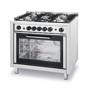 Kuchnia Hendi gazowa - 5-palnikowa Kitchen Line z konwekcyjnym piekarnikiem i z grillem