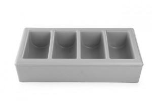 Pojemnik na sztućce z podstawą 6-częściowy