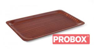 Taca antypoślizgowa drewniana - prostokątna 530x370