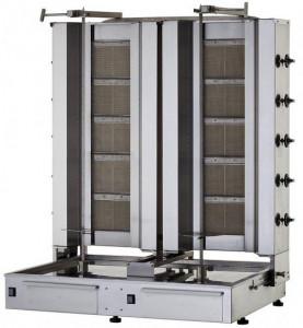 Gyros | opiekacz gazowy do kebaba podwójny | wsad 160kg KLG 225-T