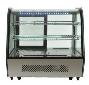 Witryna chłodnicza | Witryna cukiernicza | Czarna | LED | 120l