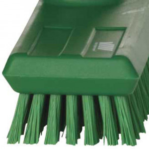 Szczotka twarda do mycia podłogi 270x65x100 mm, włos 25 mm zielona