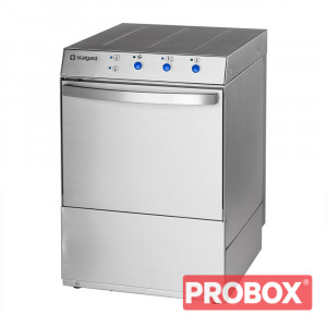 Zmywarka profesjonalna 400x400 z dozownikiem płynu myjącego i pompą zrzutową