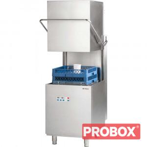 Zmywarka kapturowa 500x500, 10 kW z dozownikiem płynu myjącego i pompą wspomagającą płukanie i pompą