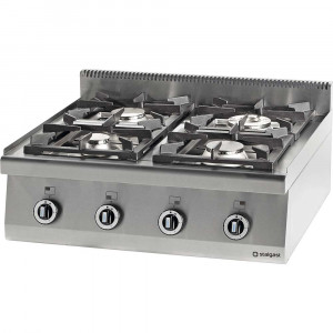 Kuchnia nastawna gazowa 4 palnikowa 800x700 22,5kW - G30/31 (propan-butan)