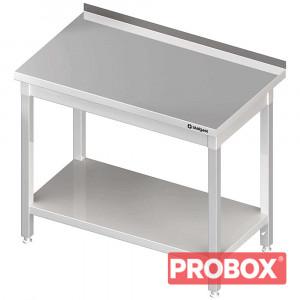 Stół przyścienny z półką 400x600x850 mm skręcany