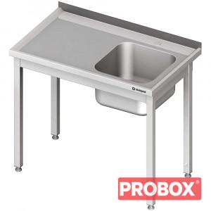 Stół ze zlewem 1-kom.(p),bez półki 1200x700x850 mm spawany