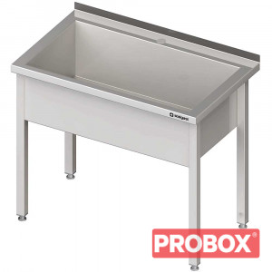 Stół z basenem 1-komorowym spawany 900x600x850 mm h=300 mm