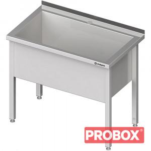 Stół z basenem 1-komorowym spawany 600x600x850 mm h=400 mm