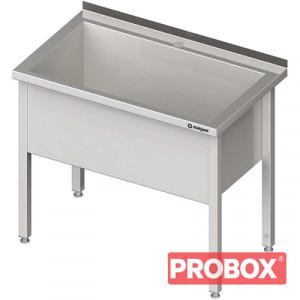 Stół z basenem 1-komorowym spawany 700x600x850 mm h=400 mm